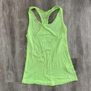 Nike Heathered Neon Yellow Dri-Fit Racerback